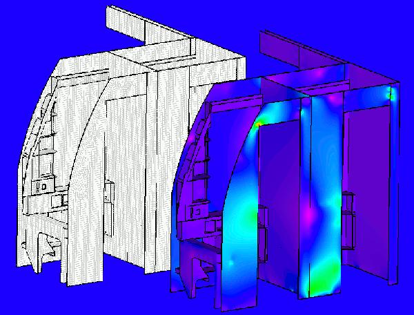 Cabin interior stress analysis