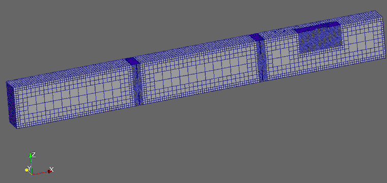 Mesh for the CFD study